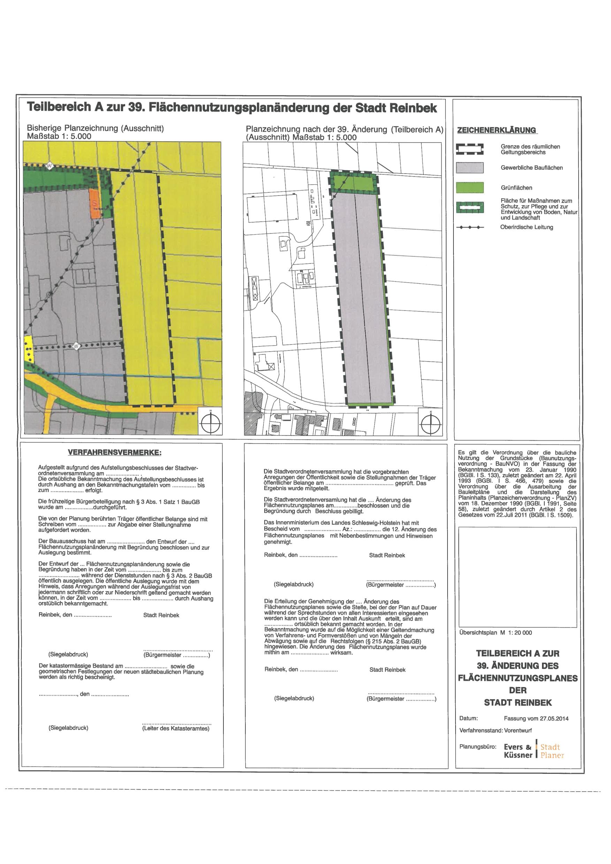 Darstellung der F-Plan-Änderung zum B96