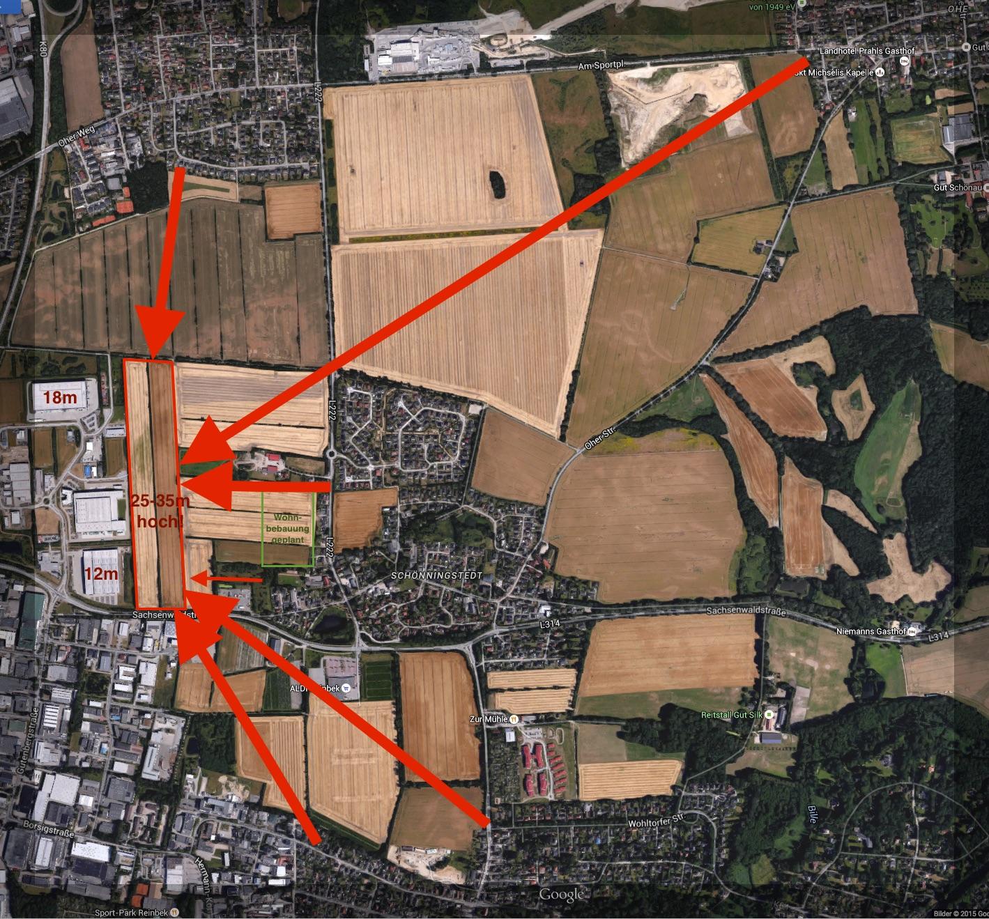 Gewerbegebietserweiterung Haidland Schönningstedt